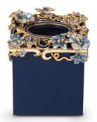Hartley Delft Floral Scroll Tissue Box Cover