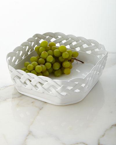 Basketweave Square Bowl