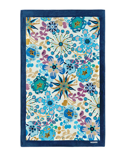 Rita Floral Beach Towel