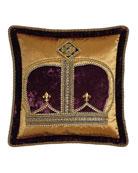 Dian Austin Couture Home Royal Court Crown Pillow,