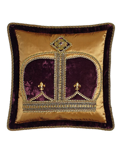 Royal Court Crown Pillow, 18