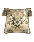"Rochelle Floral Pillow, 20""Sq."
