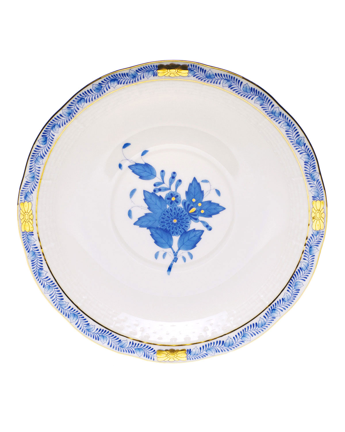 Herend Clothing BLUE CHINESE BOUQUET SAUCER
