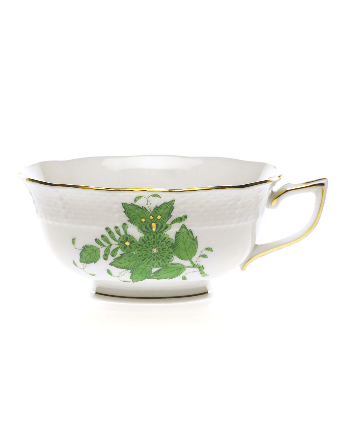 Herend GREEN CHINESE BOUQUET TEACUP