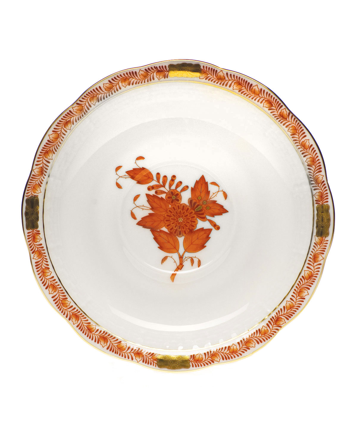 Herend Clothing RUST CHINESE BOUQUET SAUCER