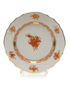 Rust Chinese Bouquet Bread & Butter Plate