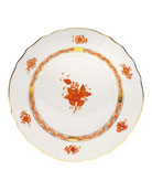 Rust Chinese Bouquet Dinner Plate