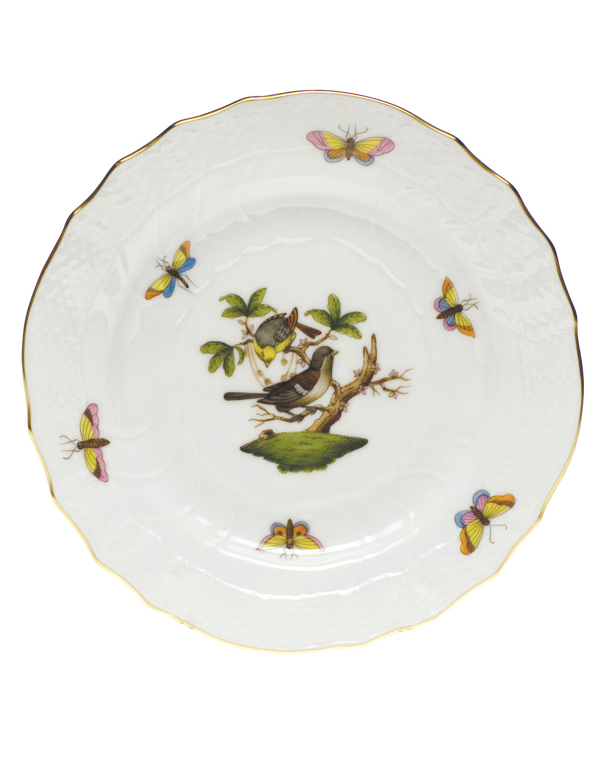 Herend ROTHSCHILD BIRD BREAD & BUTTER PLATE #1