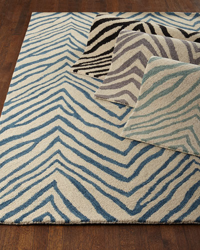 Mikki Zebra-Print Rug, 8'6
