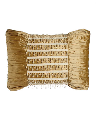 Silk Pillow with Bead Dangles, 13