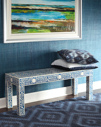 NAIMI BONE INLAY BENCH