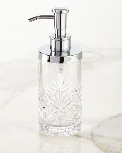 crystal bathroom accessories. dublin pump dispenser crystal bathroom accessories n