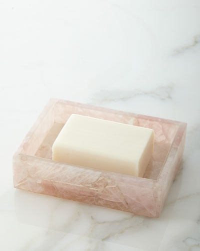 Rose Quartz Soap Dish