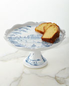 Country Estate Delft Blue Pedestal Server