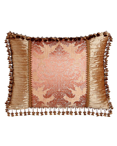 Rue de L'amour King Pieced Sham with Onion Trim