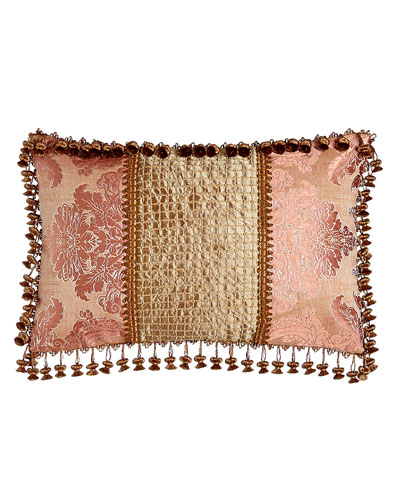 Rue de L'amour Pillow with Beaded Silk Center, 15
