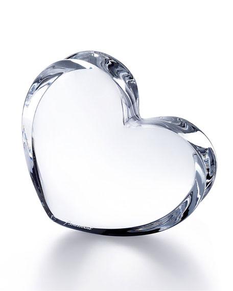 Baccarat Clear Large Zinzin Heart