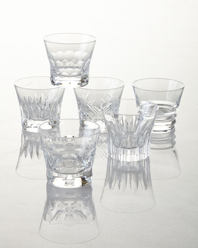 Everyday Baccarat Assorted Old Fashion Tumblers, Set of 6