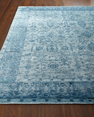 Sweet Blues Hand-Knotted Rug, 8' x 10'