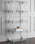 Jacques Acrylic & Nickel Etagere