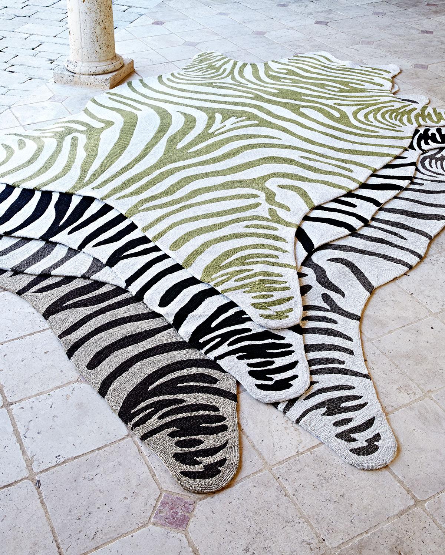 Neiman_marcus Maya Zebra Indoor / outdoor Rug, 5' X 8'