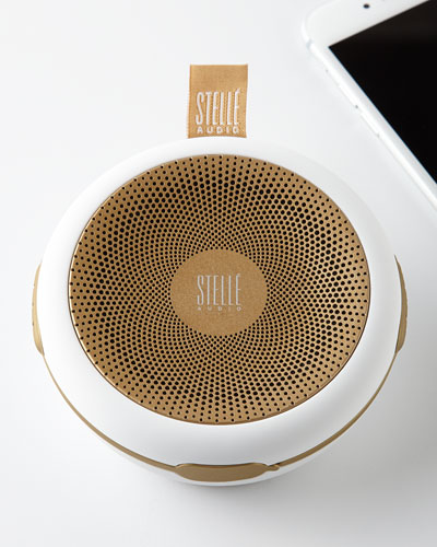 Stelle Audio White / gold Go - go Wireless Speaker