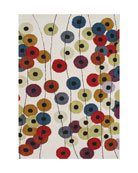 Button Cluster Rug, 8' x 10'