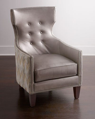 Thomas Chevron Tufted Chair