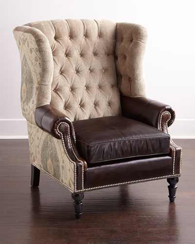 Beasley Tufted Wing Chair