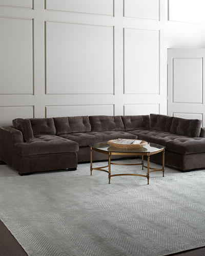 McLain Gray 3-Piece Right-Side Chaise Sectional