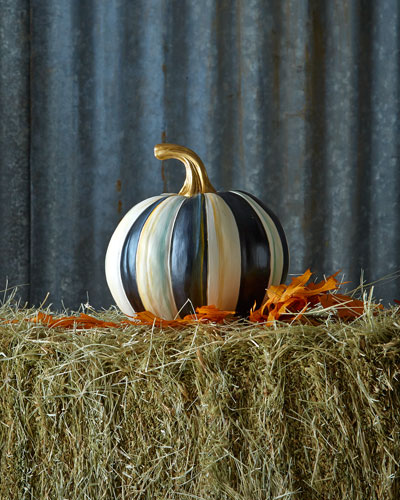 Courtly Stripe Small Pumpkin