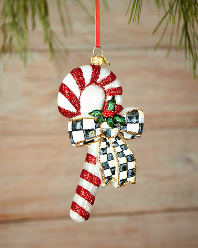 Courtly Candy Cane Christmas Ornament