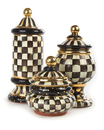 Courtly Check Globe Canister