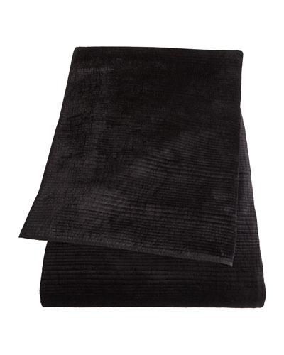 King Black Velvet Quilt