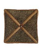 """Exotica Animal-Patterned Velvet Box Pillow, 14""""Sq."""