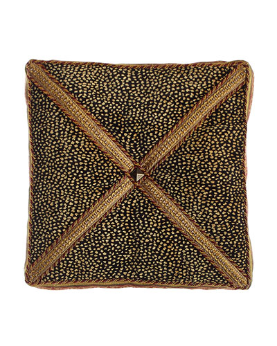 Exotica Animal-Patterned Velvet Box Pillow, 14
