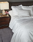 Two Queen 500 Thread Count Pillowcases with Scallop Trim