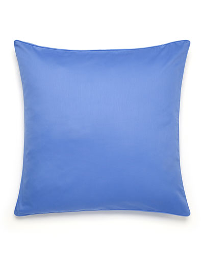 Solid Blue European Sham