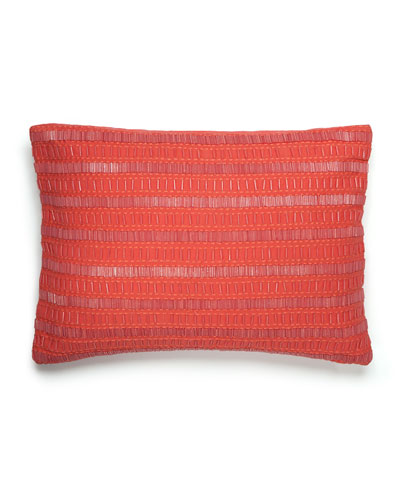 Beaded Coral Pillow, 12