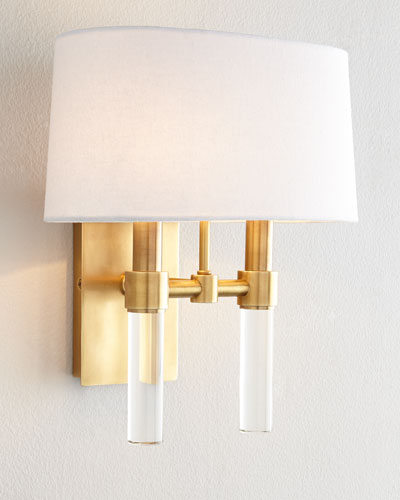 Glass Spear Two-Light Sconce