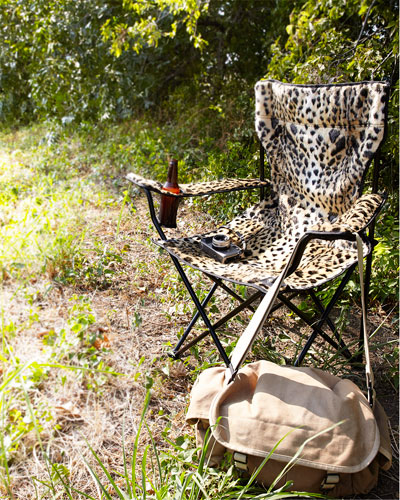 Leopard-Print Folding Chair