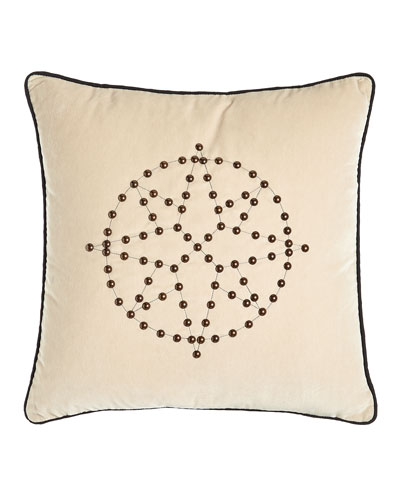 Pillow with Nailhead Design, 20