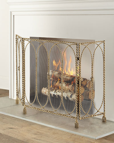 Swag & Tassel Fireplace Screen