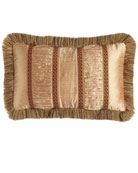 "Mediterrane Pillow with Ruched Silk Insets, 13"" x 22"""