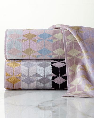 Geometric Jacquard Hand Towel