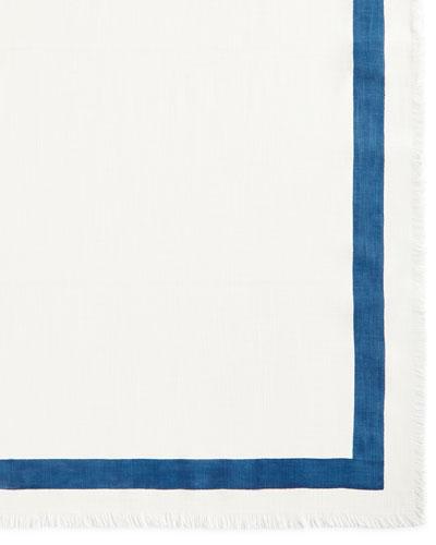 Indigo Stripe Tablecloth, 60