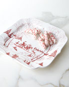 Country Estate Winter Frolic Santa's Cookie Tray