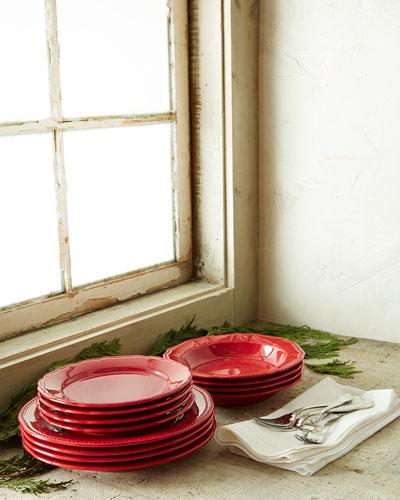 Matceramica 12 - piece Red Bistro Dinnerware Service