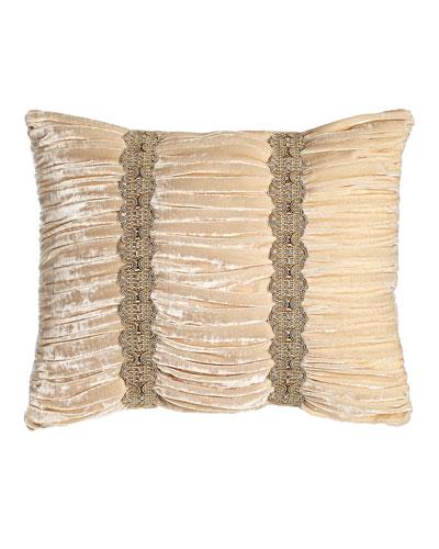 Bellissima Ruched Velvet Pillow, 15