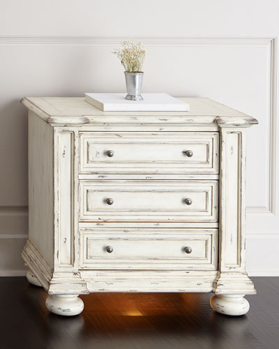 Edina Three-Drawer Nightstand